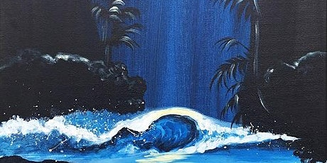 Wine and Paint Class 'Moonlit Ocean' So Much Fun ! tickets