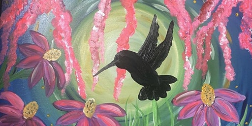 Paint&Sip Majestic Hummingbird 3/14