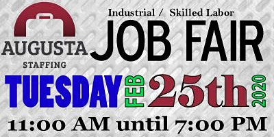 Augusta Staffing Associates Industrial & Skilled Labor Job Fair