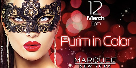 Purim in Color 2020 at Marquee  tickets