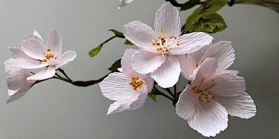 Crepe Paper Cherry Blossoms Workshop