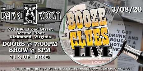 Booze Clues Podcast Live! tickets