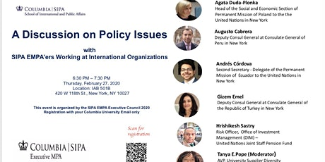 A Discussion of Policy Issues with SIPA EMPA'ers tickets