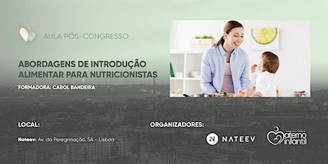 ABORDAGENS DE INTRODUÇÃO ALIMENTAR PARA NUTRICIONISTAS bilhetes