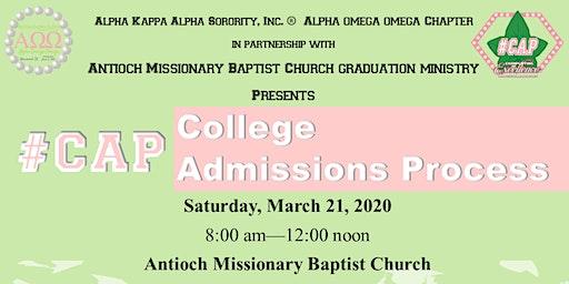 Alpha Omega Omega  Chapter presents #CAP- College Admission Process