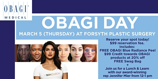 OBAGI Day at The VISTA at Forsyth Plastic Surgery