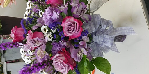Wine and Floral Design Fresh Flower Bouquet in your vase