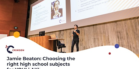 Jamie Beaton: Choosing the right high school subjects for YOU!   AKL tickets