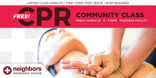 Free Community CPR Class - Pasadena