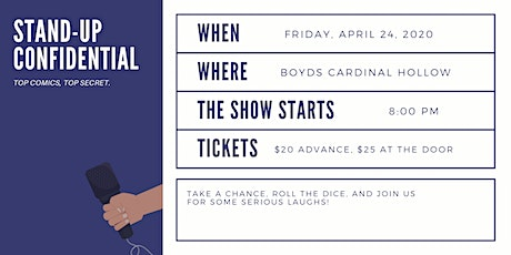 Stand-Up Confidential at Boyd's Cardinal Hollow Winery tickets