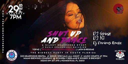 """Shut Up And Dance"" Silent Headphone Event"