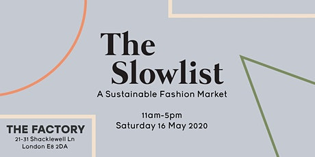 The Slowlist: A Sustainable Fashion Market tickets