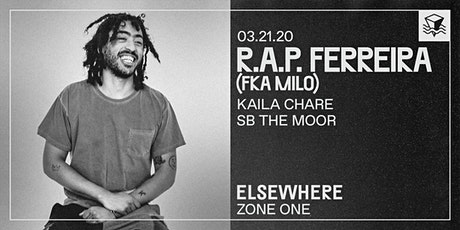 R.A.P. Ferreira (fka Milo) @ Elsewhere (Zone One) tickets