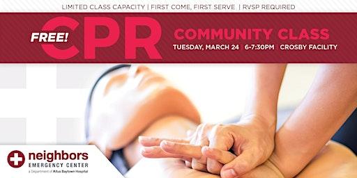 Free Community CPR Class - Crosby