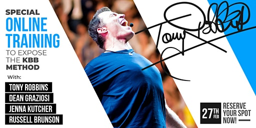 LIVE CAST: TONY ROBBINS & DEAN GRAZIOSI (Anderson, CA) *THURSDAY 2/27/20*