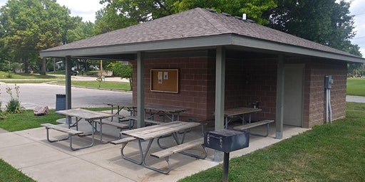 Shelter Overhang at David Brewer Park - Dates in February and March