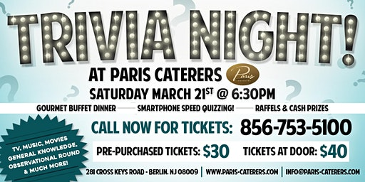 Trivia Night at Paris Caterers