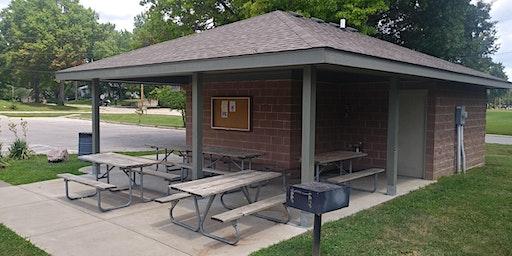 Shelter Overhang at David Brewer Park - Dates in July through September