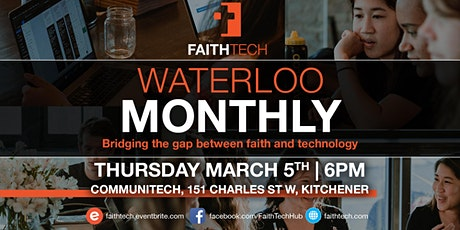 Waterloo March Monthly Meet Up tickets