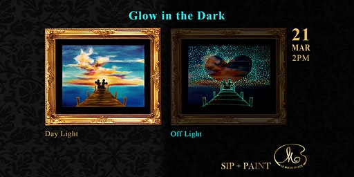 Sip and Paint (Glow in the Dark): Mickey Love Minnie