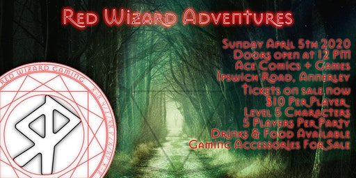 Red Wizard Adventures @ Ace Comics & Games