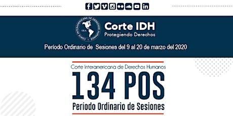 134 Período Ordinario de Sesiones entradas