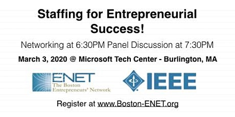 Staffing for Entrepreneurial Success for Startups #ENET2913 tickets