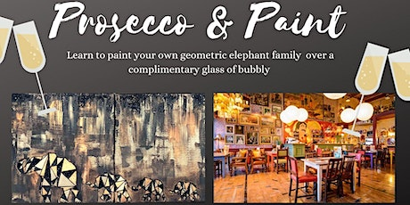 Prosecco and Paint- Paint your own Geometric, Glittery, Elephant Family 2  tickets