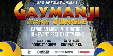 """""""Gaymanji: Welcome to the Jungle"""" Party, presented by Gay Ottawa Volleyball tickets"""