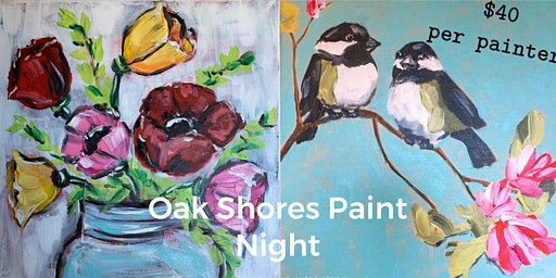 Birds and Flowers Painting Experience at Oak Shores
