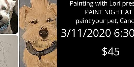 3/11 PAINT NIGHT Paint your Pet Cancun Mexican Restaurant