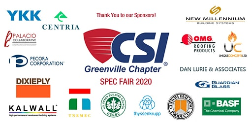 CSI Greenville Spec Fair 2020