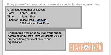 Blaze Pizza - Enjoy a meal and support a great cause! tickets