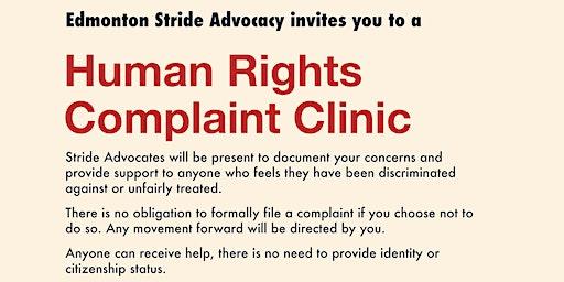 Edmonton Stride: Human Rights  Complaint Clinic