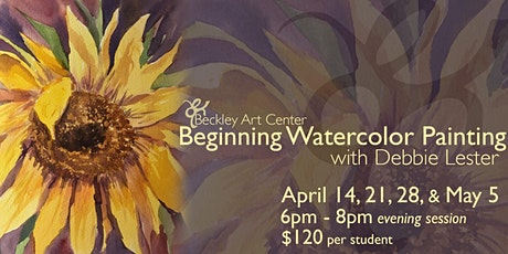 Beginning Watercolor Class - Evening tickets