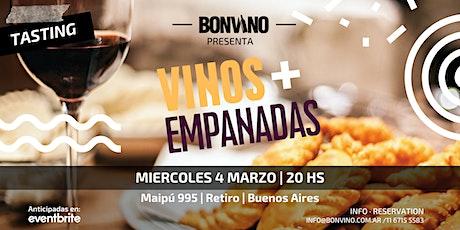 Tasting: Vinos y Empanadas entradas