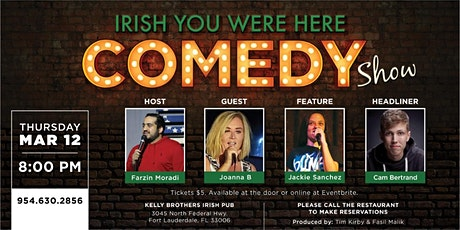 Comedy Night at Kelly Brothers! Mar 12th tickets