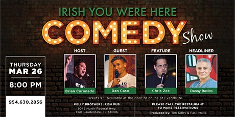 Comedy Night at Kelly Brothers! Mar 26th tickets