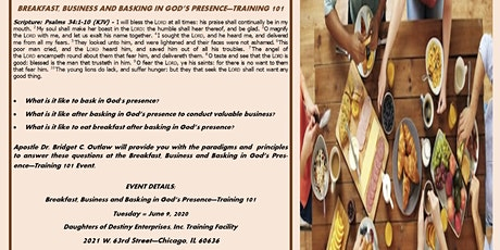 Breakfast Business and Basking in God's Presence-Training 101 tickets
