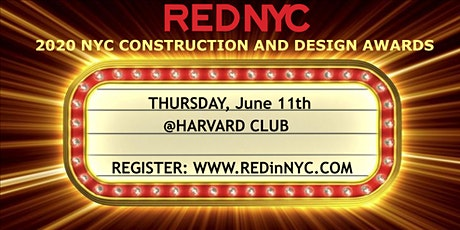REDinNYC Construction and Design Awards Ceremony tickets