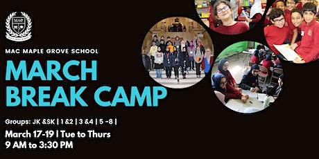 MAC MGS March Break Camp 2020 tickets
