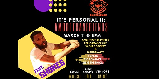The Word of Mouth Wednesday's Experience Presents: It's Personal II