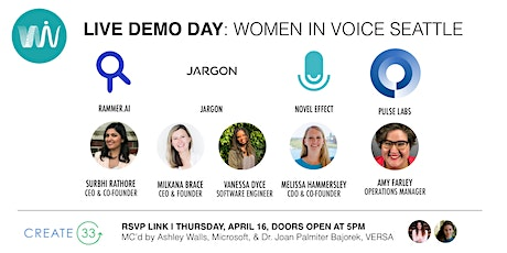 Live Demo Day: Women in Voice Seattle tickets