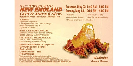 57th NSRMC New England Gem & Mineral Show tickets