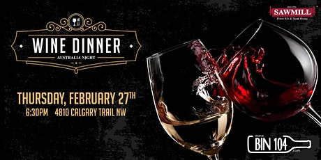 Wine Dinner Australia Night tickets