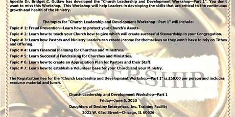 Church Leadership and Development Training-Part 1 tickets