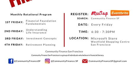 Financial Fitness - Financial Foundation Fundamentals  - Community Finance SF - Mar 6 tickets
