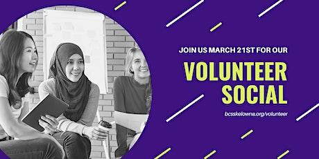 BCSS Volunteer Social tickets
