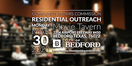 March 30, 2020 Residential Outreach tickets