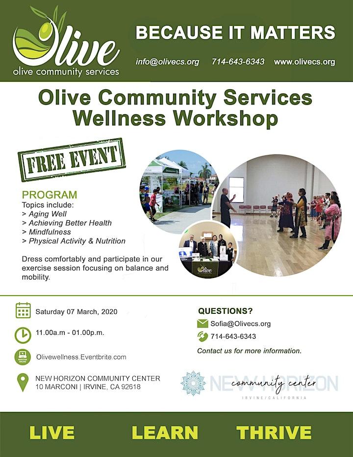Olive Health and Wellness Workshop image